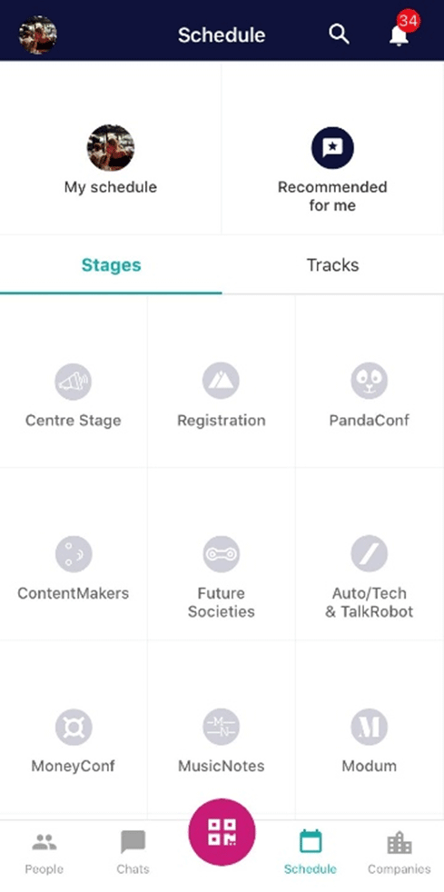Web Summit 2019 - Мобильное приложение
