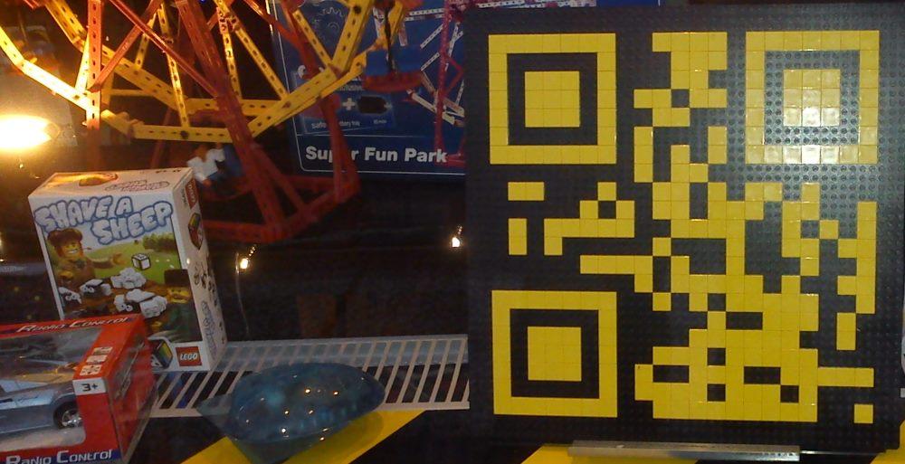 Приклад використання QR-кодів компанією Lego